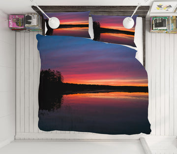 3D Pink Dusk Lake 1032 Jerry LoFaro bedding Bed Pillowcases Quilt