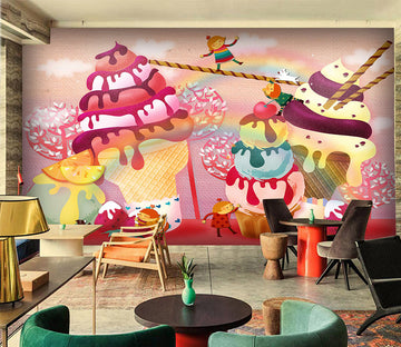 3D Ice Cream 1077 Wall Murals