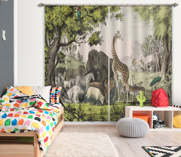 3D Animal Home 041 Andrea haase Curtain Curtains Drapes Curtains AJ Creativity Home