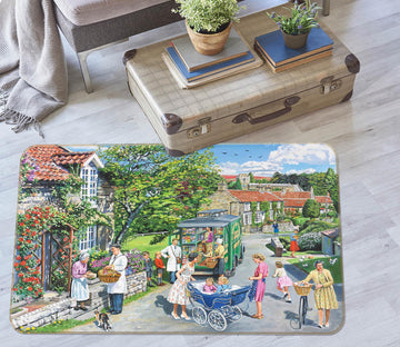 3D The Mobile Shop 1111 Trevor Mitchell Rug Non Slip Rug Mat