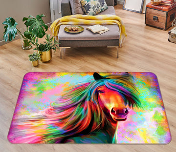 3D Colorful Horse 30222 Non Slip Rug Mat