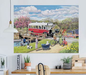 3D The Old Swing Bridge 073 Trevor Mitchell Wall Sticker