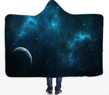3D Planet Galaxy 375 Hooded Blanket