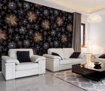 3D Transparent Flower 081 Assaf Frank Wall Mural Wall Murals