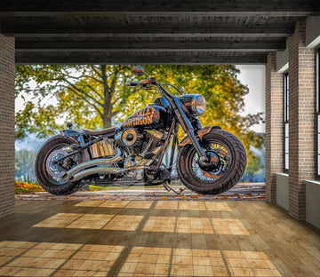 3D Harley Davidson 988 Vehicle Wall Murals