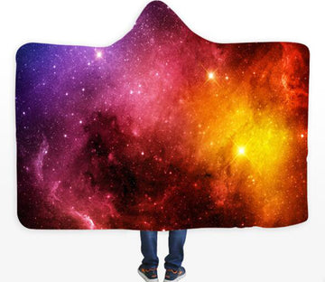 3D Starry Sky Cloud 124 Hooded Blanket