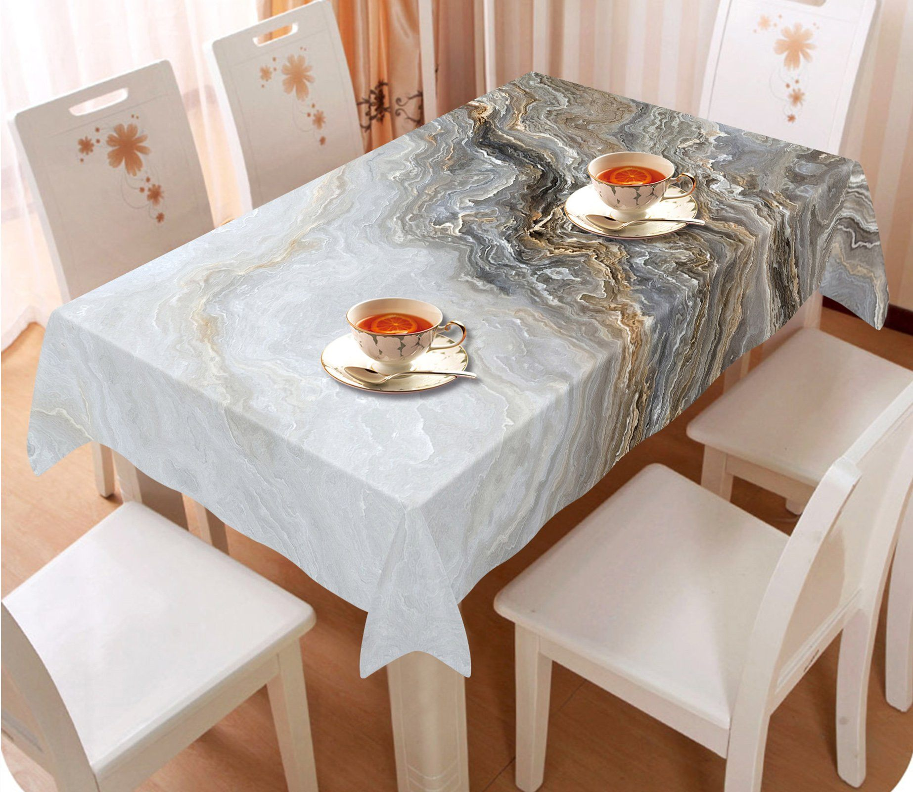 3D Wave Stone Pattern 69 Tablecloths Wallpaper AJ Wallpaper