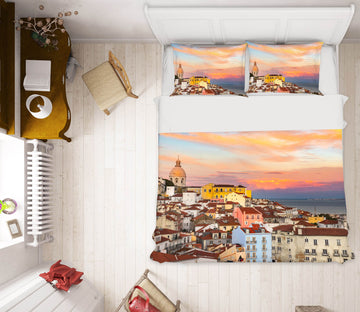 3D Sunset Town 041 Marco Carmassi Bedding Bed Pillowcases Quilt