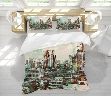 3D Graffiti Building 029 Bed Pillowcases Quilt