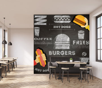3D Hamburger 1007 Wall Murals
