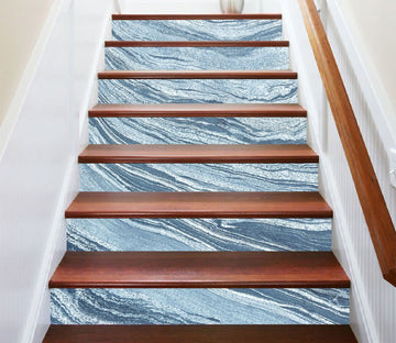 3D Sky Blue River 860 Marble Tile Texture Stair Risers Wallpaper AJ Wallpaper