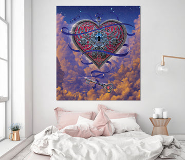 3D Heart And Key 041 Vincent Hie Wall Sticker