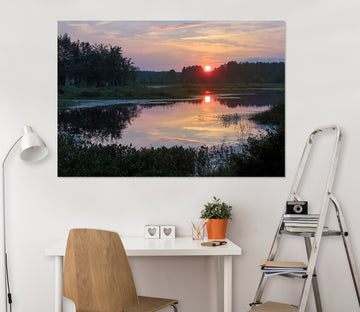 3D Valley Lake 127 Jerry LoFaro Wall Sticker
