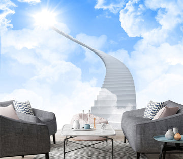 3D Blue Sky White Clouds 1466 Wall Murals