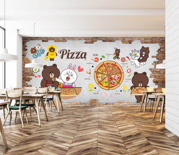 3D Gummy Pizza 3023 Wall Murals