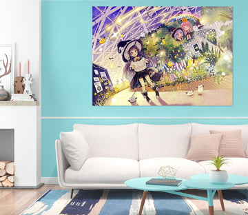 3D Magic girl 713 Anime Wall Stickers