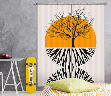 3D Yellow Sun Pattern 1135 Boris Draschoff Curtain Curtains Drapes