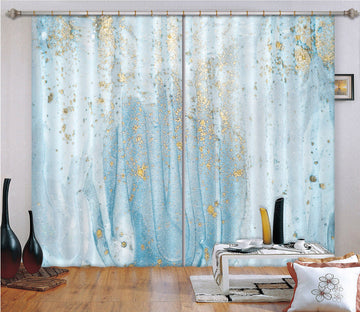 3D Silver Blue Abstract 61 Curtains Drapes