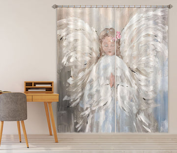 3D Angel Praying 1017 Debi Coules Curtain Curtains Drapes