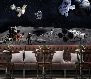 3D Rocket Astronaut WC1700 Wall Murals