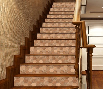 3D Honeycomb Wood Grain 884 Marble Tile Texture Stair Risers Wallpaper AJ Wallpaper