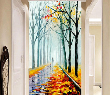3D Forest Path 653 Wall Murals