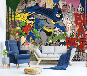 3D Graffiti Superman 048 Wall Murals