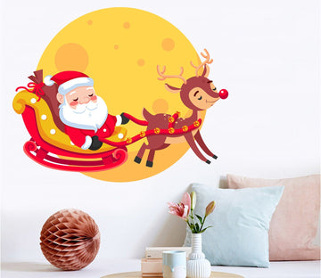 3D Lovely Santa Claus 01 Wall Stickers