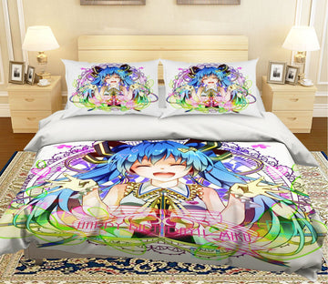 3D Hatsune Miku 37 Anime Bed Pillowcases Quilt