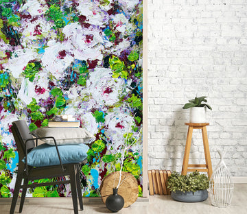 3D Colored Wild Flowers 269 Allan P. Friedlander Wall Mural Wall Murals