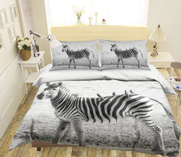 3D Zebra River 142 Bed Pillowcases Quilt