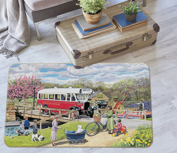 3D The Old Swing Bridge 1113 Trevor Mitchell Rug Non Slip Rug Mat