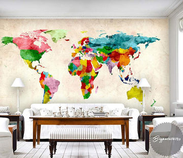 3D Abstract Map 226 Wall Murals