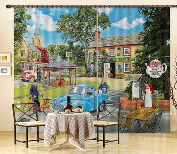 3D The Village Tearooms 116 Trevor Mitchell Curtain Curtains Drapess