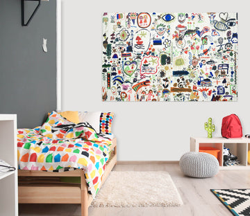 3D Wall Painting Crayon 1068 Wall Sticker