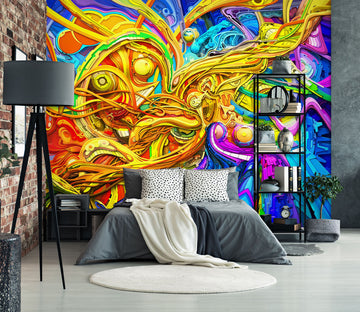 3D Color Graffiti 1684 Wall Murals