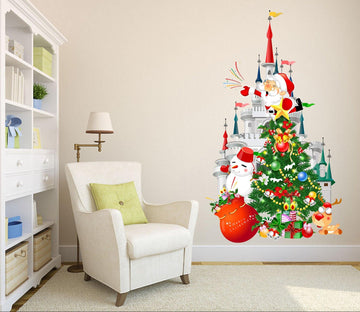3D Castle Christmas Tree Gift 35 Wall Stickers Wallpaper AJ Wallpaper