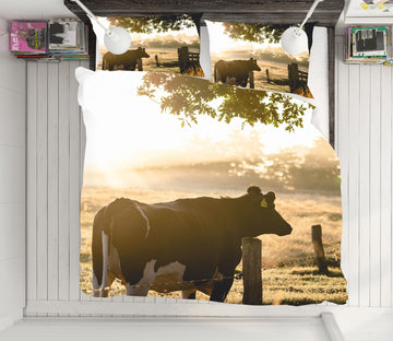 3D Cows 21047 Bed Pillowcases Quilt