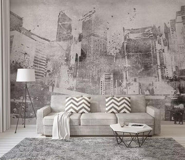3D Grey City 1178 Wall Murals