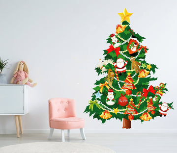 3D Christmas Tree Pentagram 42 Wall Stickers Wallpaper AJ Wallpaper
