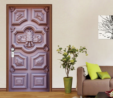 3D Purple Rich Door 043 Door Mural