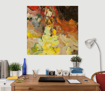 3D Abstract Yellow 111 Allan P. Friedlander Wall Sticker