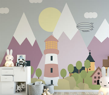 3D Color House WC013 Wall Murals