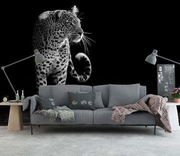 3D Black Leopard 17 Wall Murals Wallpaper AJ Wallpaper 2