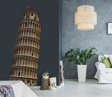 3D Leaning Tower Of Pisa 0188 Wall Stickers