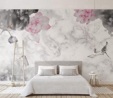 3D Painted Flowers WC207 Wall Murals