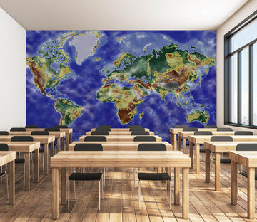 3D Exquisite Painting 2142 World Map Wall Murals