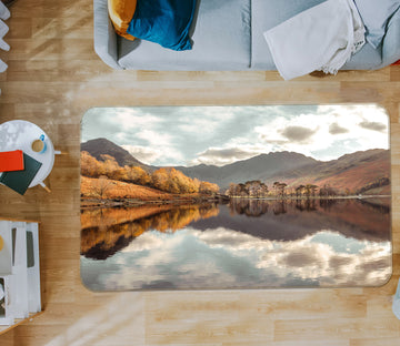 3D Lake Mountain 160 Assaf Frank Rug Non Slip Rug Mat