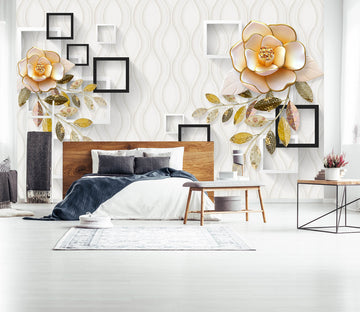 3D Flower Square 1632 Wall Murals