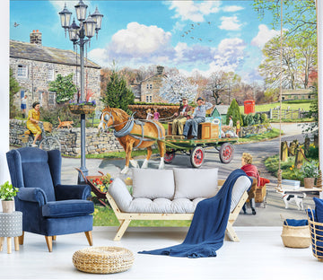 3D Carriage 1047 Trevor Mitchell Wall Mural Wall Murals